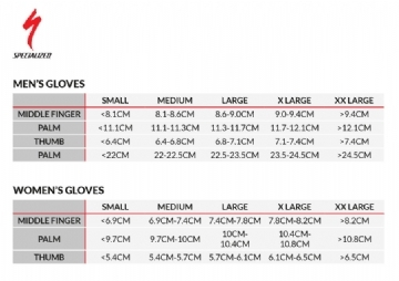 Specialized Gloves Size
