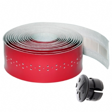 Fizik Superlight Perforated Microtex Handlebar Tape: Glossy Red